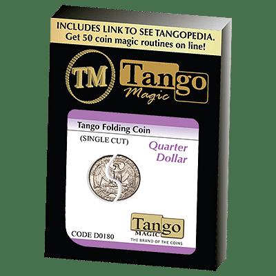 Folding Coin - Quarter Dollar Traditional Single Cut - magic