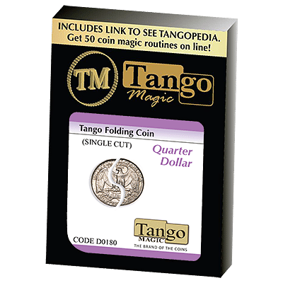 Folding Coin - Quarter Dollar Traditional Single Cut - magic