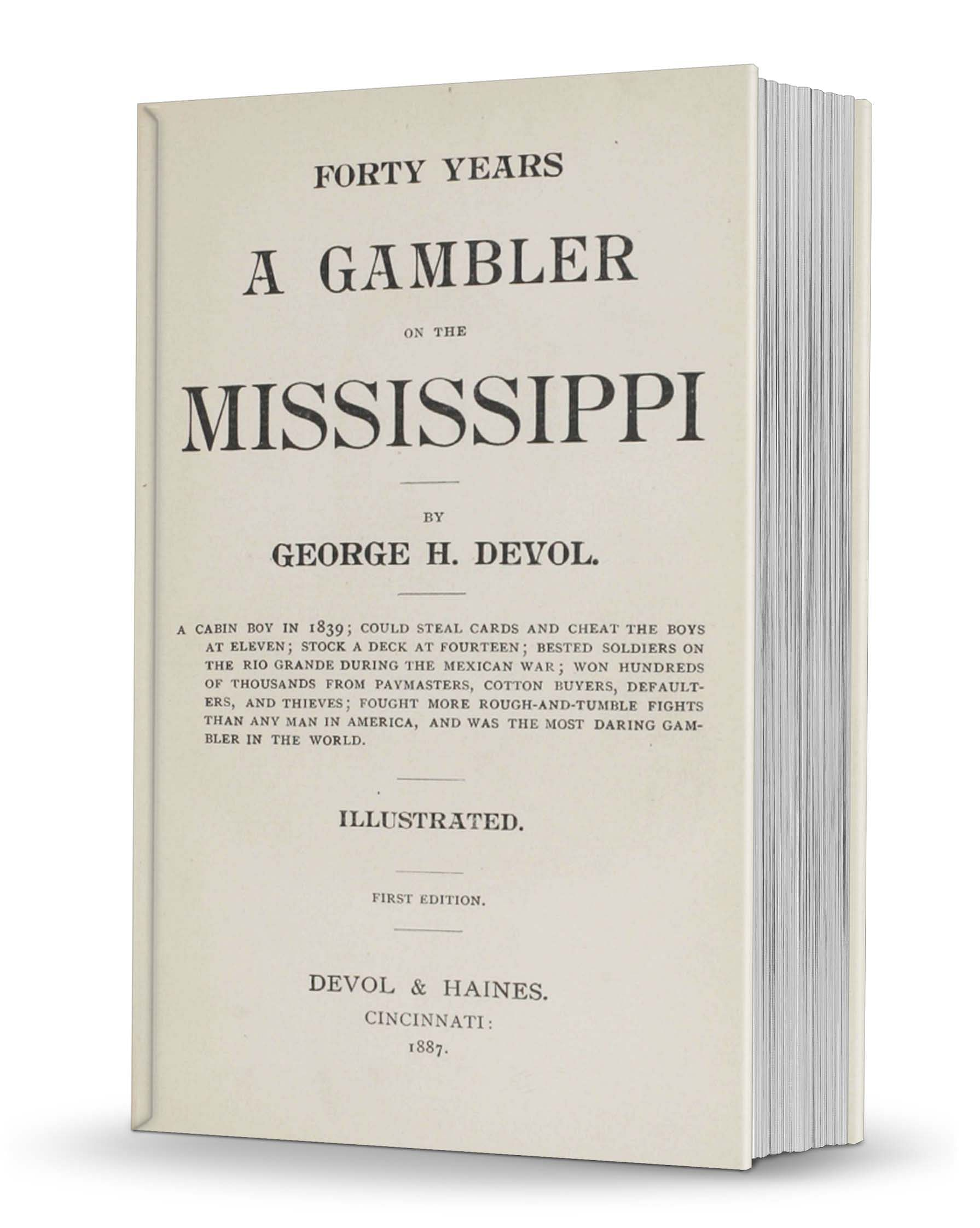 Forty Years a Gambler on the Mississippi  - magic