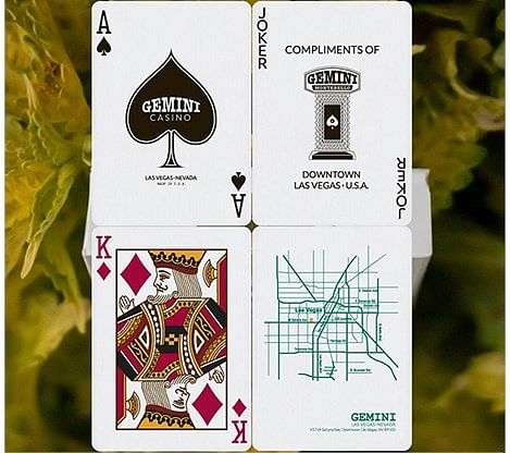 Gemini Casino Emerald Green Playing Cards