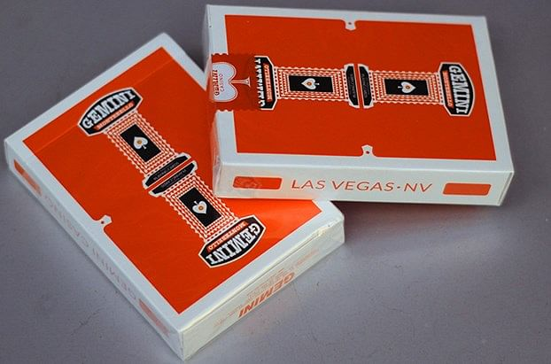 Orange Gemini Casino Playing Cards - magic