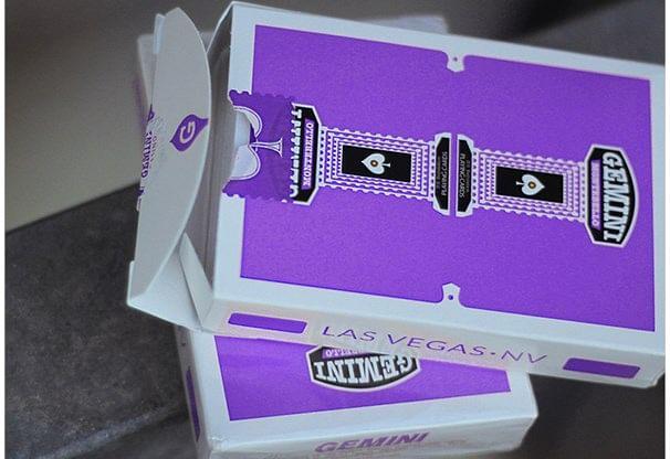Gemini Casino Purple Playing Cards