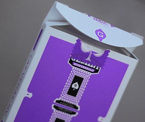 Gemini Casino Purple Playing Cards - magic
