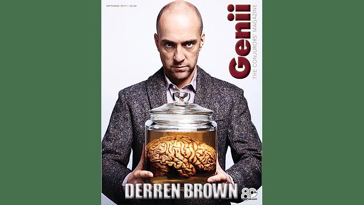 """Genii Magazine """"Derren Brown"""" September 2017 - magic"""