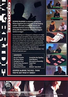 George McBride The DVD
