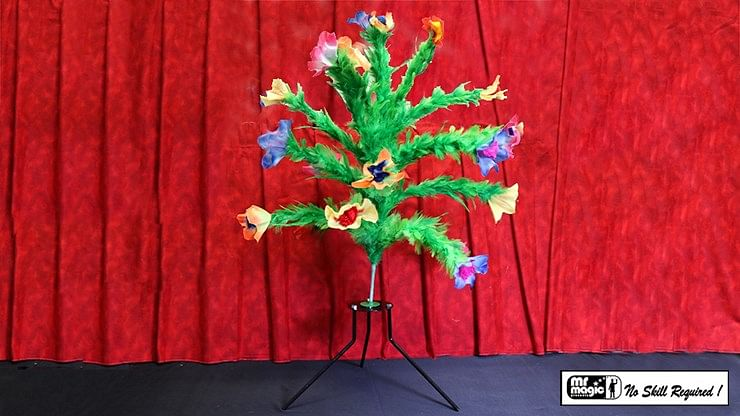 Giant Bouquet from Silk on Stand - magic