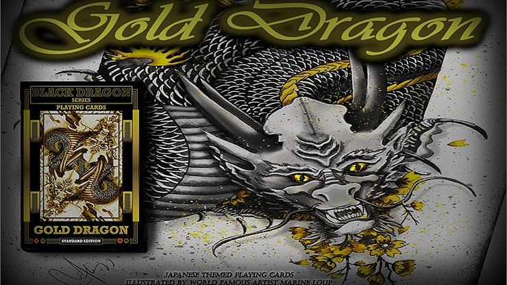 Gold Dragon  Playing Cards - magic