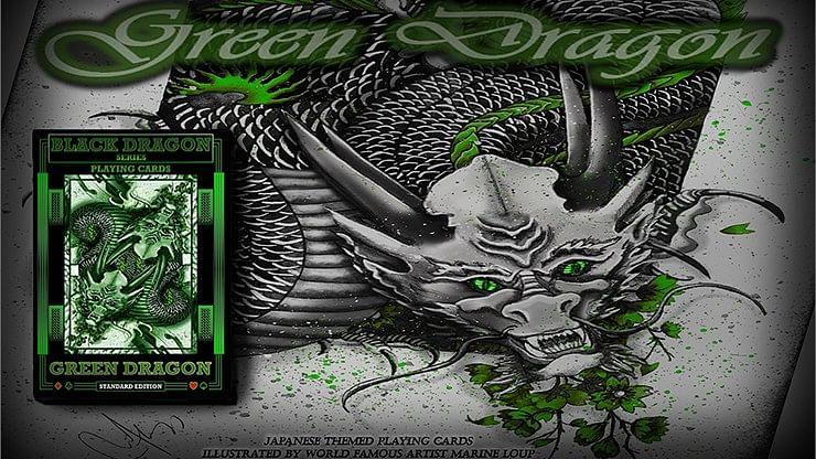 Green Dragon Playing Cards - magic