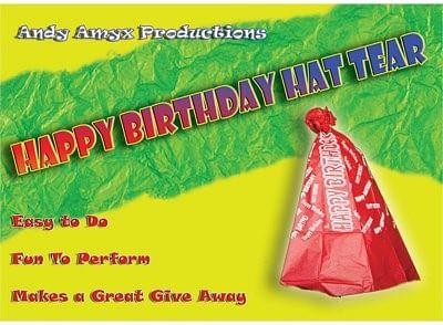 Happy Birthday Hat Tear - magic