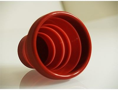 Harmonica Chop Cup Red Silicone