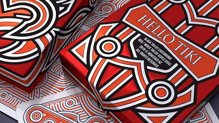 Hello Tiki V2 Playing Cards (Red)