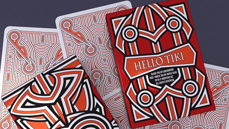 Hello Tiki V2 Playing Cards (Red) - magic