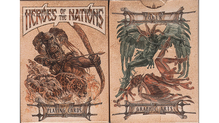 Heroes of the Nations Dark Playing Cards - magic