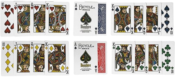 Hesslers Rider Back  Playing Cards