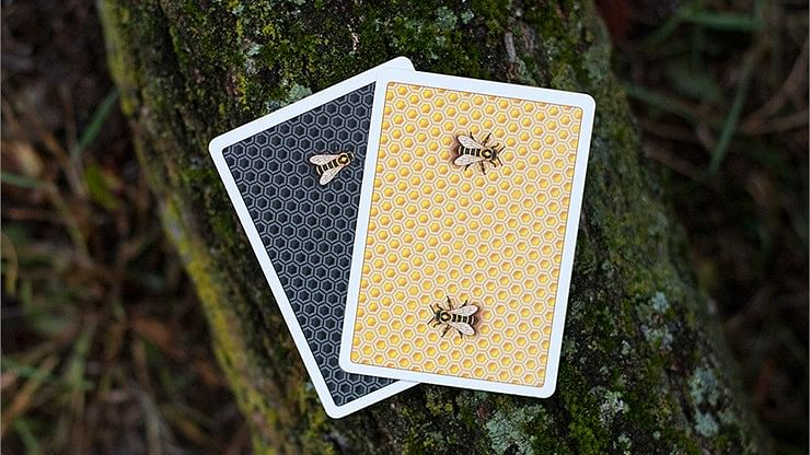 Honeybee V2 Playing Cards (Yellow)