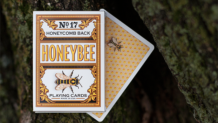 Honeybee V2 Playing Cards (Yellow) - magic
