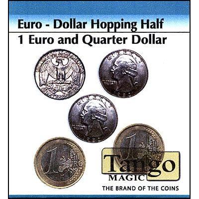 Hopping Half - 1 Euro/Quarter Dollar - magic