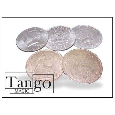 Hopping Half - Half Dollar/English Penny - magic