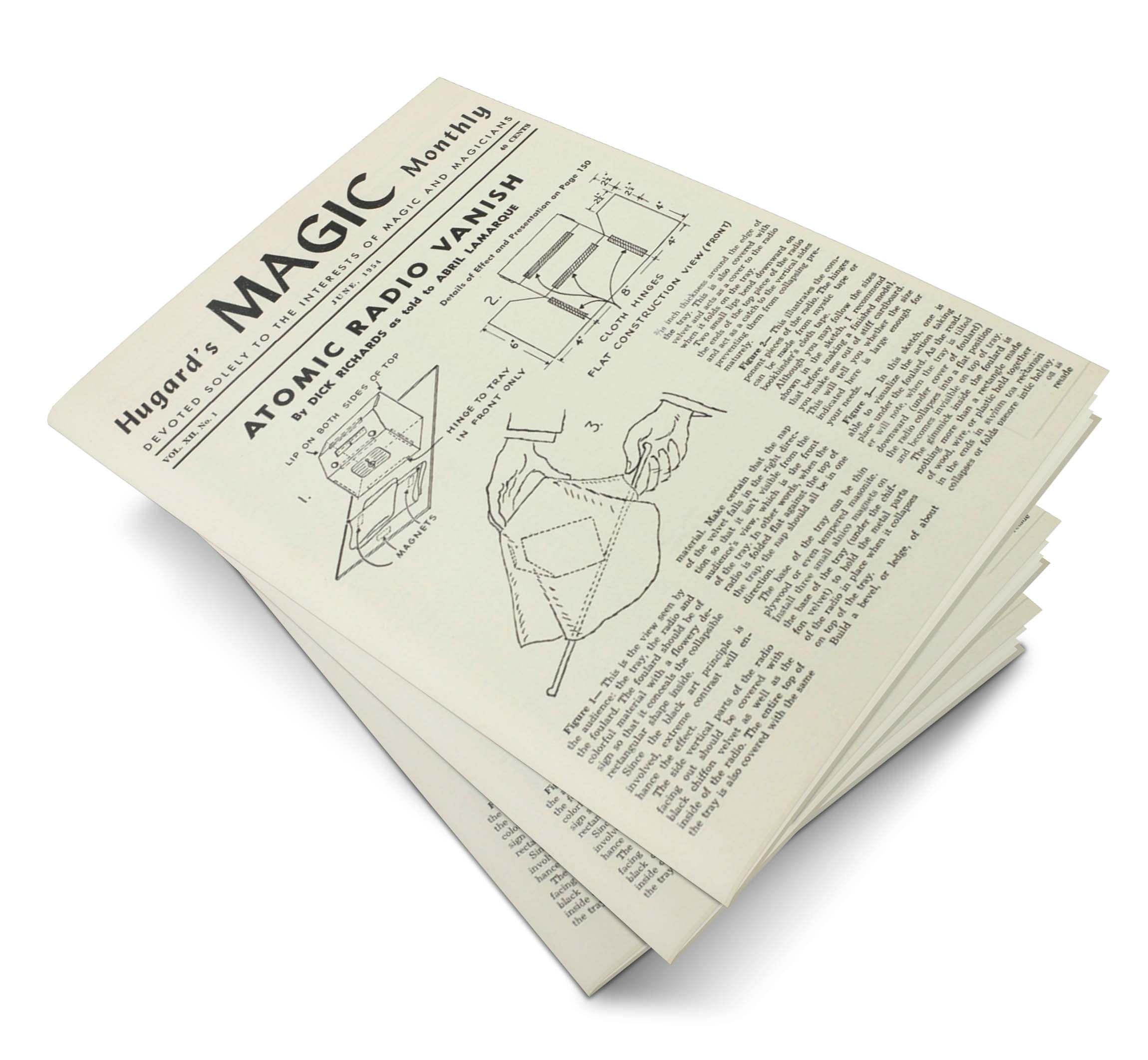 Hugard's Magic Monthly Volume 12 - magic