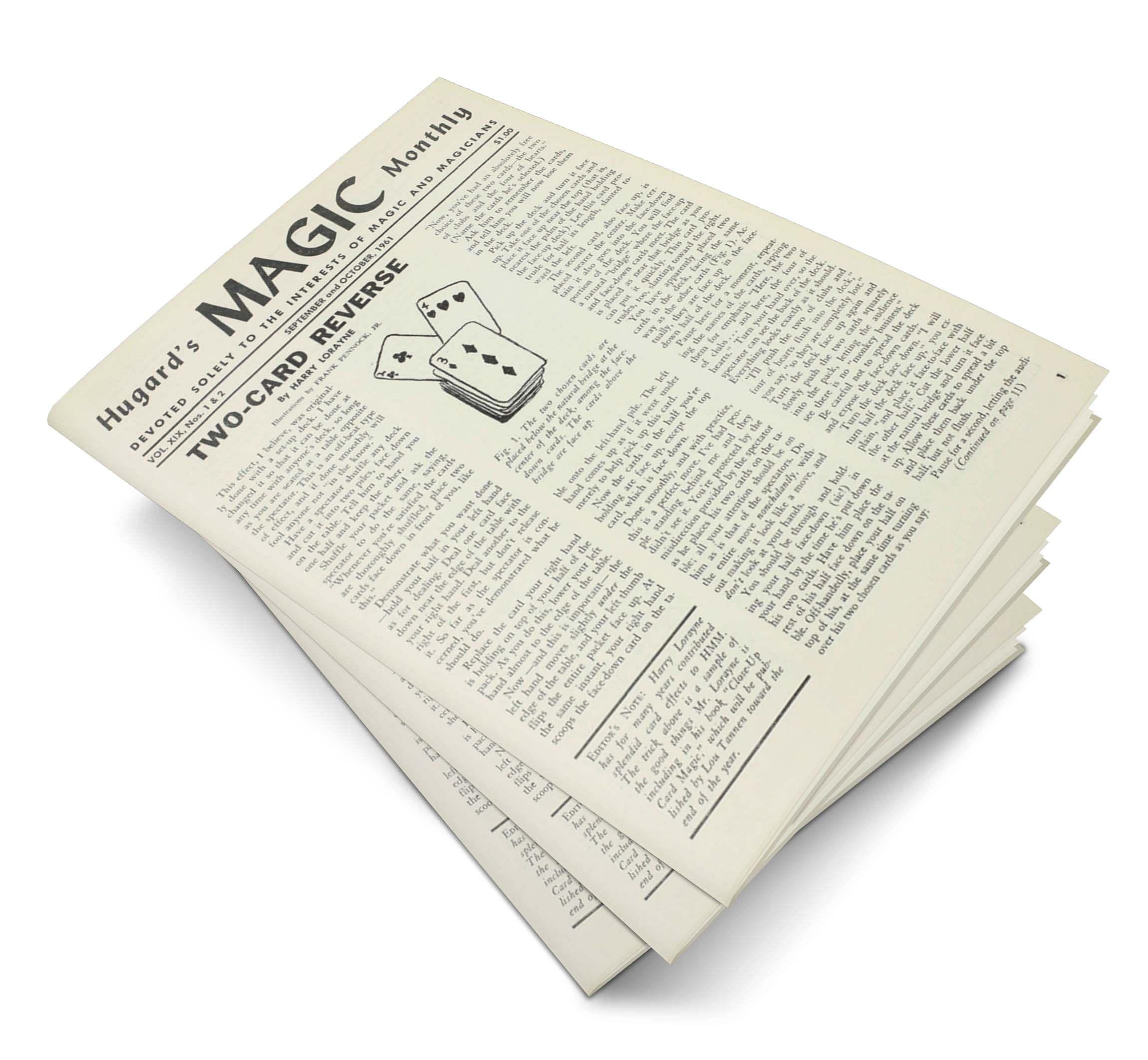 Hugard's Magic Monthly Volume 19 - magic
