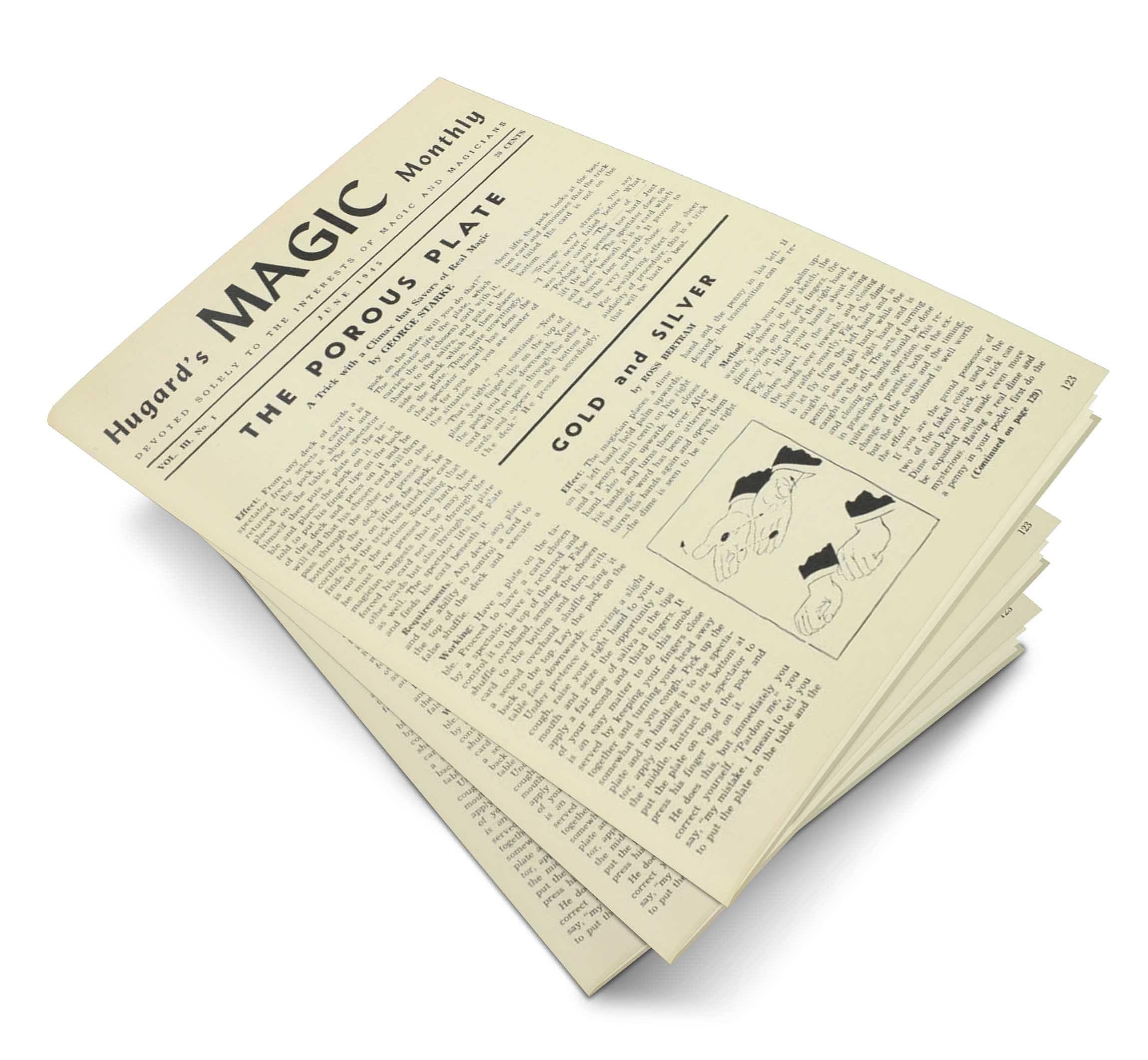 Hugard's Magic Monthly Volume 3 - magic