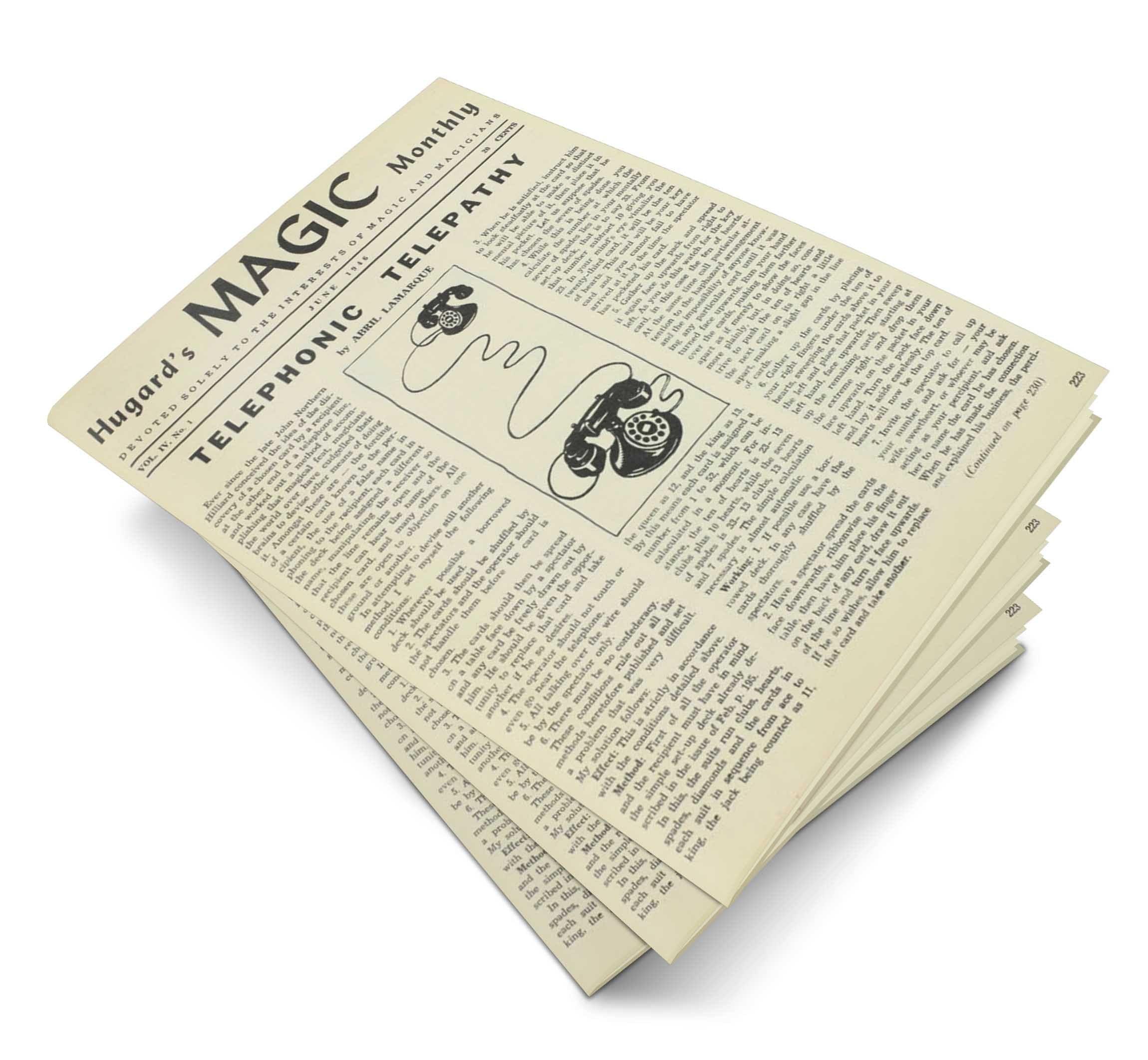 Hugard's Magic Monthly Volume 4 - magic
