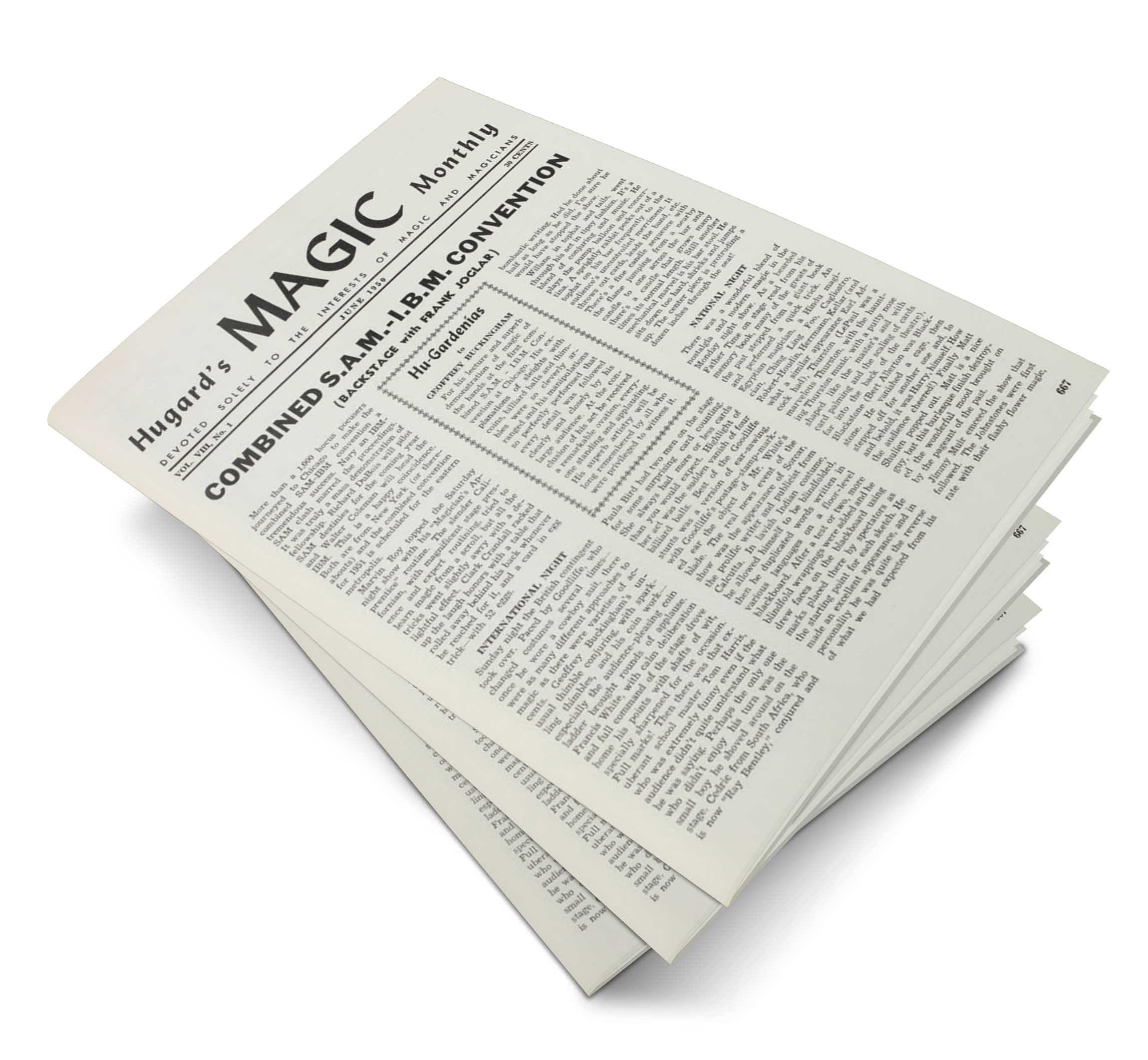 Hugard's Magic Monthly Volume 8 - magic