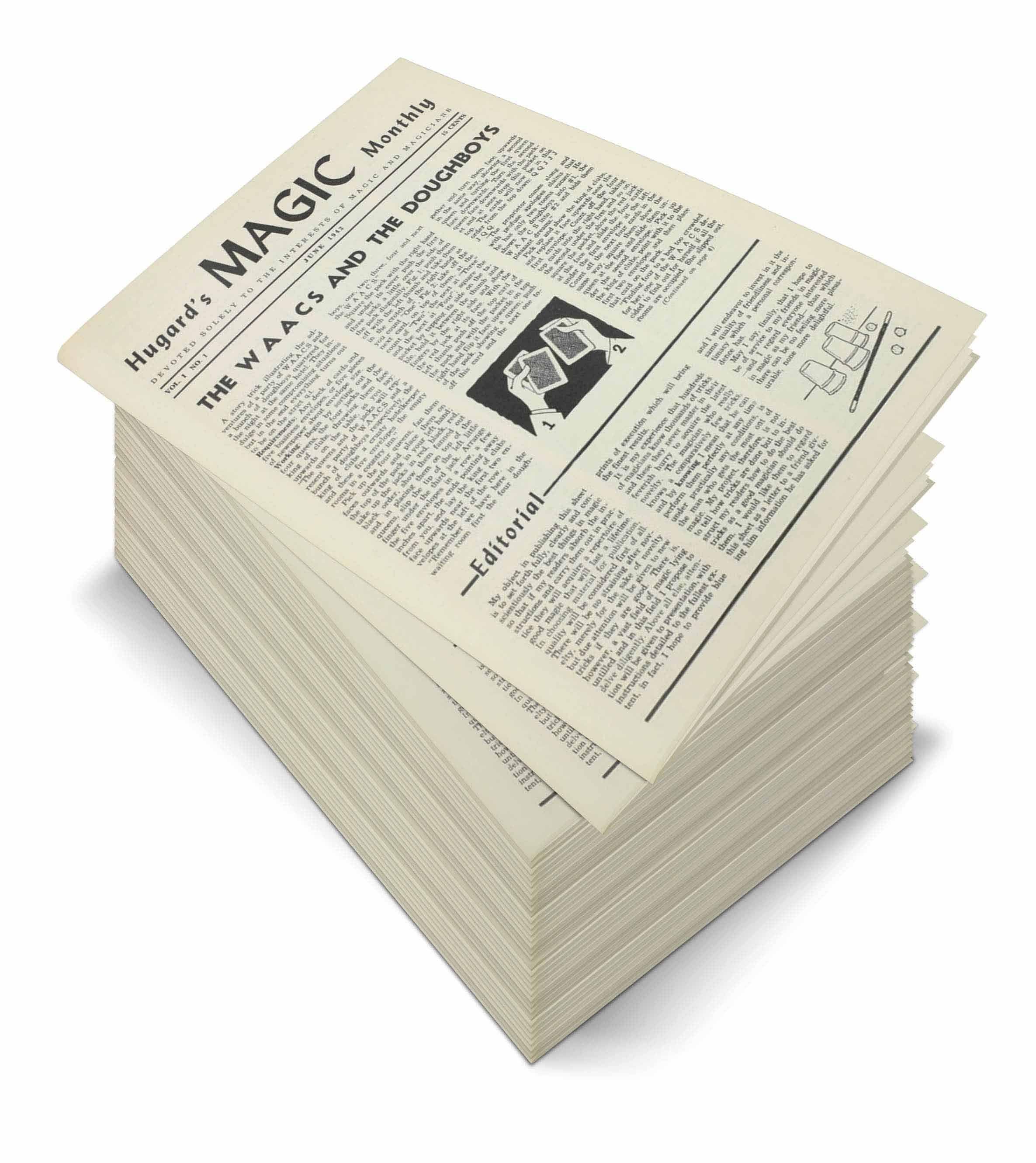 Hugard's Magic Monthly Complete File - magic