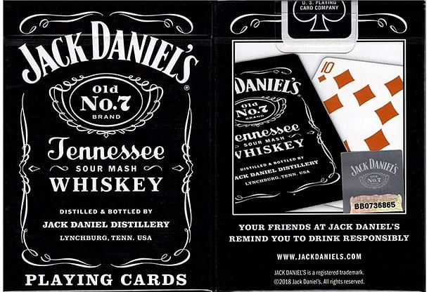 Jack Daniel's Black/Honey Set Playing Cards