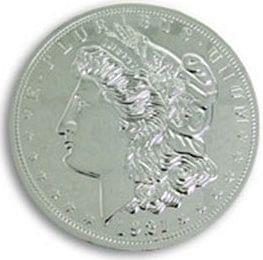 "Jumbo 7"" Morgan Chrome Dollar - magic"