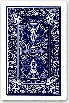 Double Backed Jumbo Bicycle Card- Double Backed  (Red/Blue)