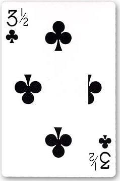 Bicycle Jumbo 3 1/2 of Clubs Playing Card - magic