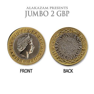 Jumbo British Two Pound Coin - magic