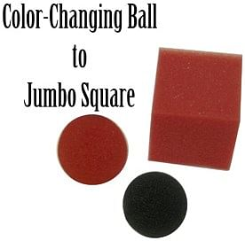 Jumbo Color Changing Ball to Square - magic