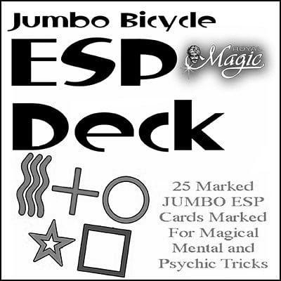 Jumbo Marked ESP Decks (Bicycle) - magic