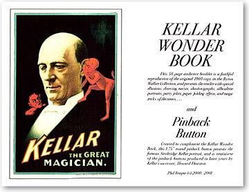 Kellar Wonder Book with Pinback Button - magic