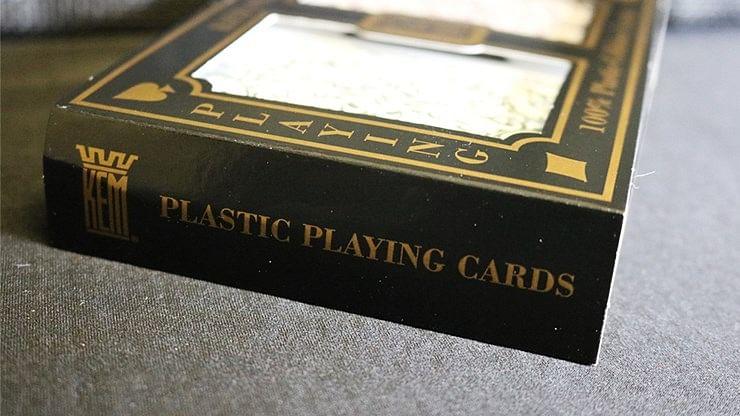 KEM Bridge Plastic Playing Cards - Jumbo Index (2 Deck Set)