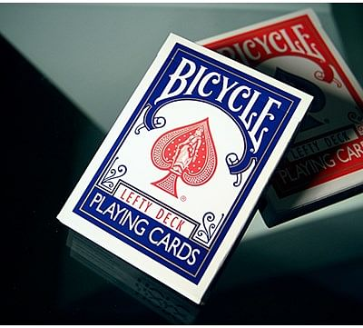 Lefty Playing Cards (Blue) - magic