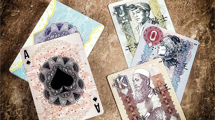 Chinese Legal Tender Playing Cards