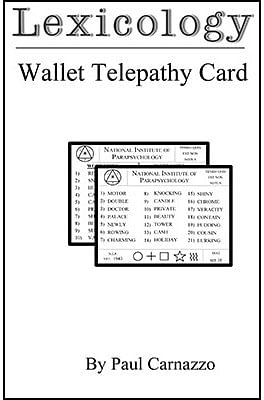 Lexicology with Telepathy card - magic