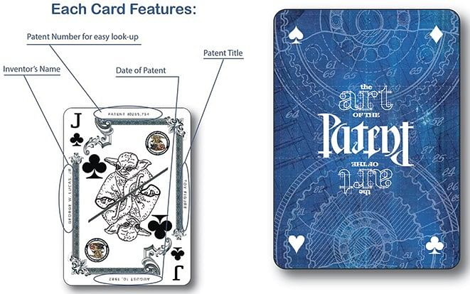 Limited Edition Art of the Classic Patent Playing Cards