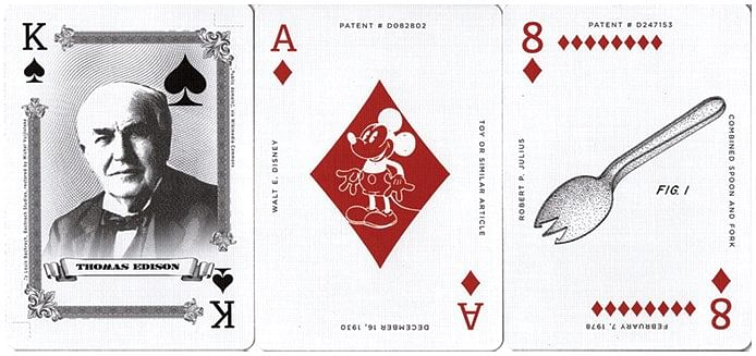 Limited Edition Art of the Famous Patent Playing Cards