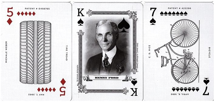 Limited Edition Art of the Vehicle Patent Playing Cards