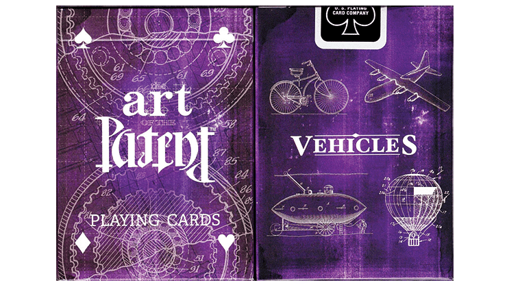Limited Edition Art of the Vehicle Patent Playing Cards - magic