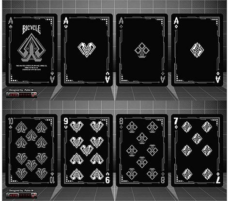 Bicycle Grid Blackout Playing Cards