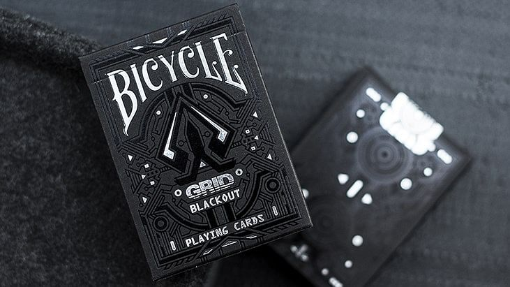 Bicycle Grid Blackout Playing Cards - magic