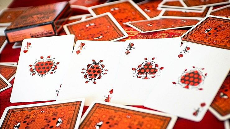 Bicycle Ladybug Playing Cards - Red