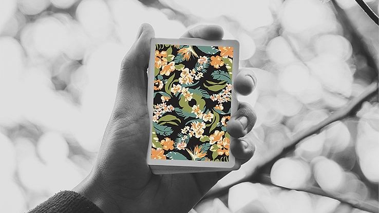 Black Flora Playing Cards