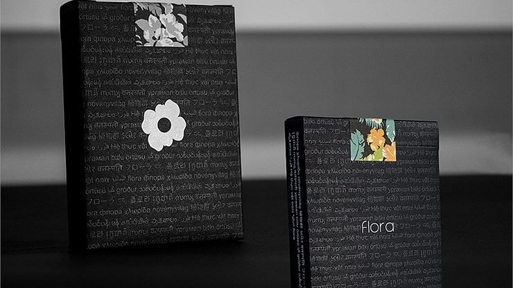 Black Flora Playing Cards - magic