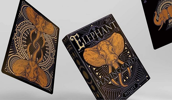 Limited Edition Elephant Playing Cards - Night